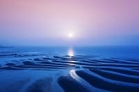 熊本県 御輿来海岸の干潟と夕日