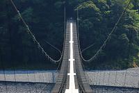 静岡県 大井川 塩郷の吊り橋