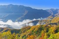 新潟県 紅葉と奥只見湖の雲海