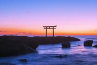 茨城県 大洗海岸の夜明け