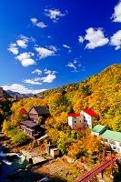 北海道 紅葉鮮やかな定山渓温泉