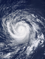雲の渦巻き 台風
