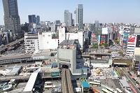 東京都 再開発が進む渋谷駅