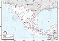 メキシコ 交通図