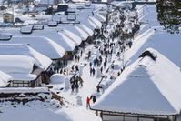 福島県 下郷町 大内宿 雪まつり