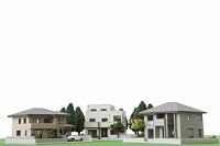 模型で作った住宅地