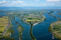 輪中(長良川、揖斐川、木曽川)と油島千本松