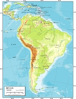 南アメリカ 自然図