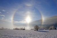オーストリア 冬の朝日 ザンクト・ミヒャエル