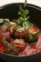 麻の肉団子トマト煮