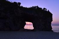 沖縄県 砂山ビーチ 夕景