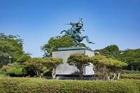山形県 霞城公園 最上義光騎馬像