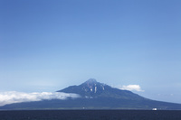 北海道 利尻富士 利尻山 礼文島から利尻富士 フェリー
