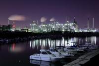 愛知県 漁港と工場夜景