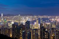 中国 香港 香港の夜景