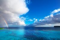 グアム タモンビーチの虹
