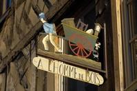 フランス オンフルール レストランの看板