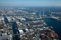 神奈川県 京浜工業地帯 宝町より扇島方面