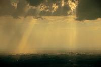 茨城県 夕日光芒つくば市