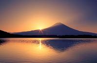 静岡県 田貫湖と日の出