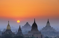 ミャンマー バガンの夕日