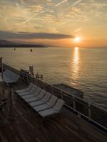 地中海の朝日
