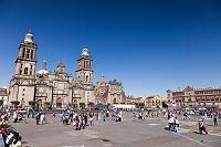 メキシコ メキシコシティ ソカロ広場 旧市街 カテドラル メトロ...
