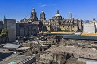 メキシコ メキシコ・シティ テンプロ・マヨール遺跡とカテドラル
