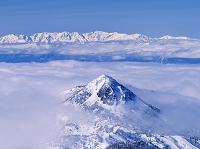 長野県 樹氷の横手山より笠ヶ岳と北アルプス 志賀高原