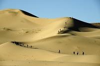 モンゴル 砂漠 ハイキング