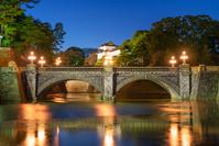 東京都 皇居 二重橋の夜景