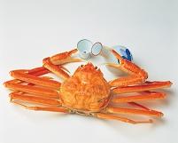酒を飲む蟹
