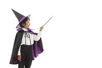 ハロウィンの仮装をした男の子