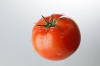 水滴がついたトマト