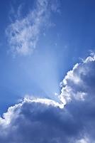 雲の切れ間から射す光