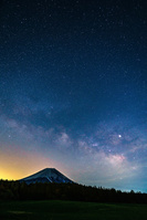 静岡県 富士山と天の川