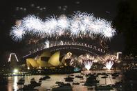 オーストラリア   シドニー・オペラハウス   新年の花火大会