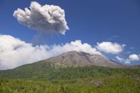 鹿児島県 有村溶岩展望所 噴火