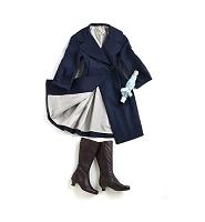レインコートとブーツと傘