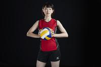 女子バレーボール選手のポートレート
