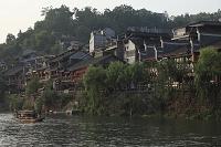 中国 湖南省 鳳凰 鳳凰故城 沱江と町並み