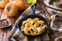 柿とモッツァレラチーズのロースト