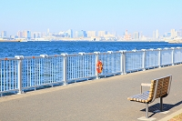 東京港とビル群