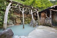 秋田県 鶴の湯温泉の混浴露天風呂