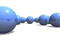 青い球体イメージ CG