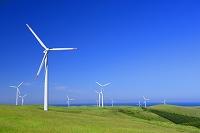 北海道 宗谷丘陵の風力発電