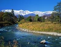 長野県・白馬村 大出公園より北アルプス