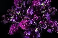 紫色のフラワーアレンジメント