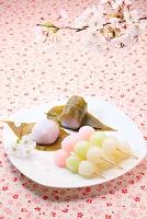 花見だんごと桜餅