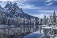イタリア 冬のアントルノ湖